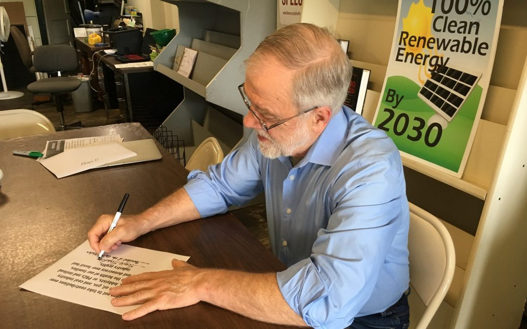 Hawkins Becomes First Candidate To Endorse 350.org Climate Pledge