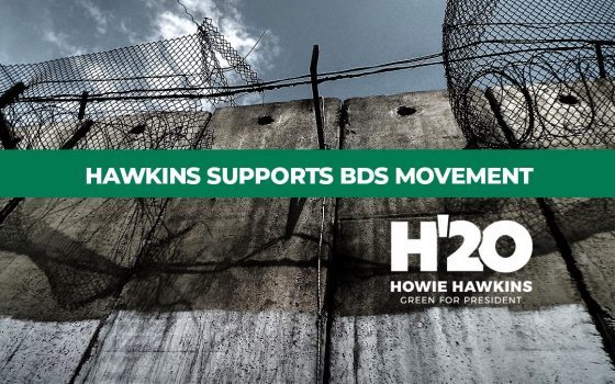 Hawkins Supports BDS Movement Against Israel, Calls for New Relationship