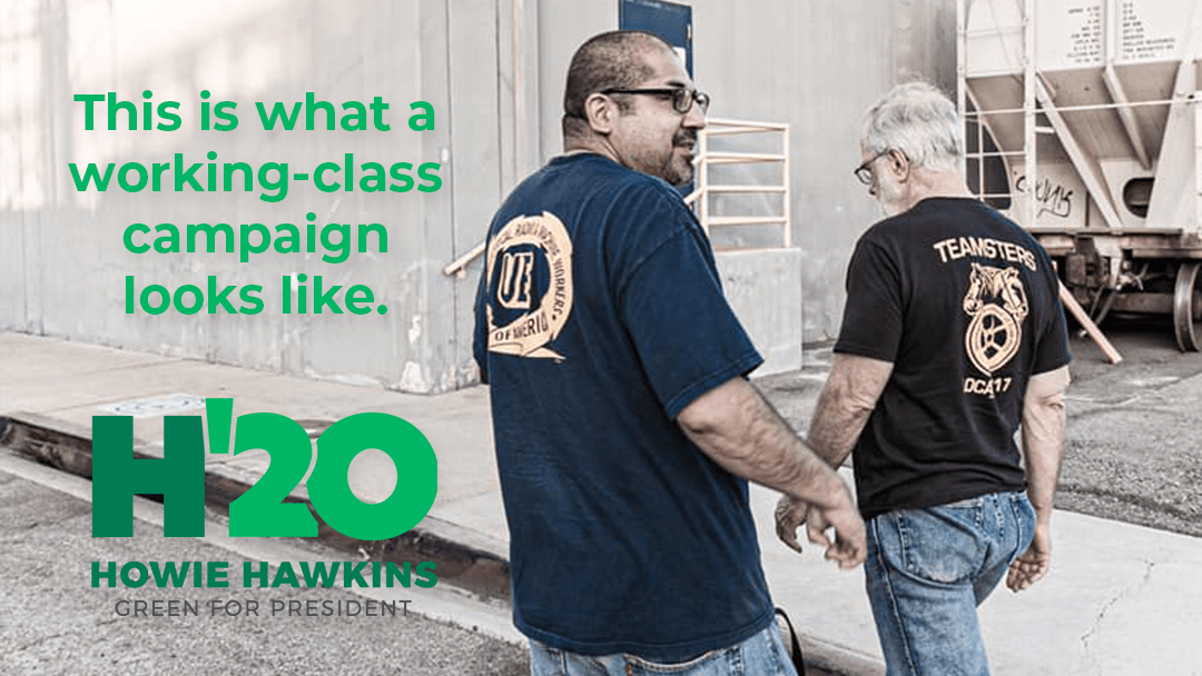 Hawkins Campaign Submits Latest FEC Filing: This Is What A Green Working-Class Campaign Looks Like
