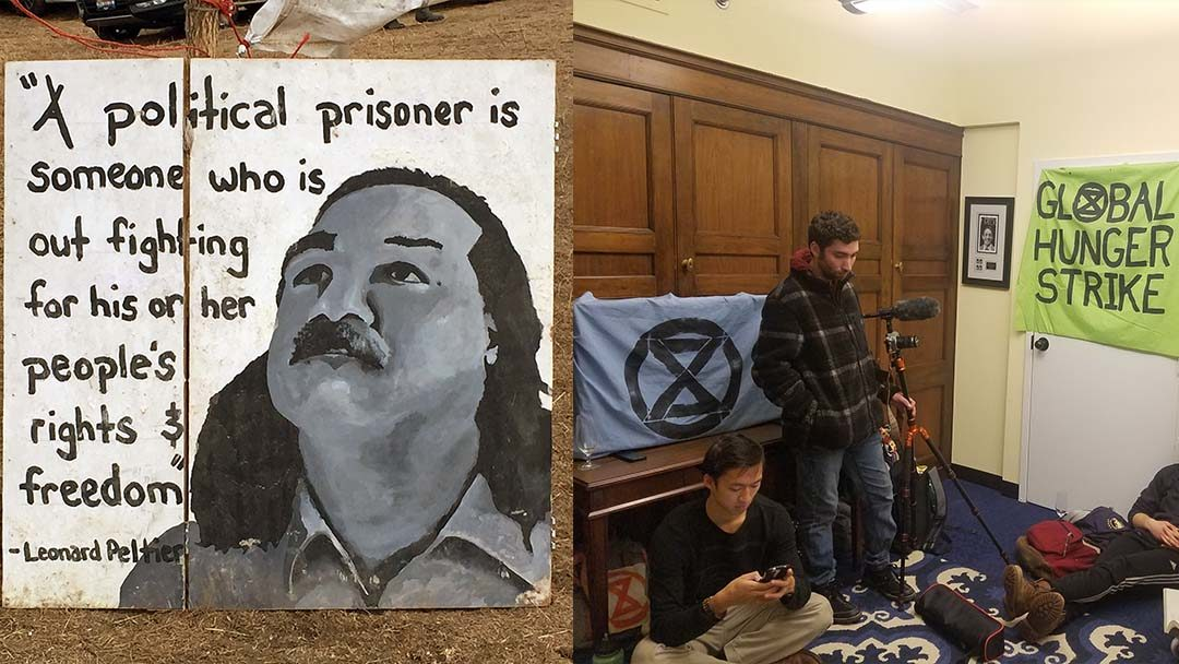 On Thanksgiving: Hawkins Applauds Extinction Rebellion Hunger Strikers Urges Pelosi To Meet With Extinction Rebellion Calls for a Presidential Pardon for Leonard Peltier