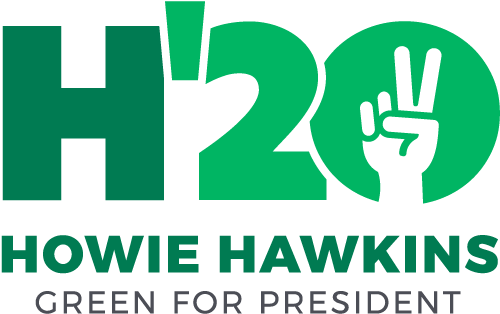 Green Potus Candidate Hawkins says Stop the US War on Iran! US Out of the Middle East Now!