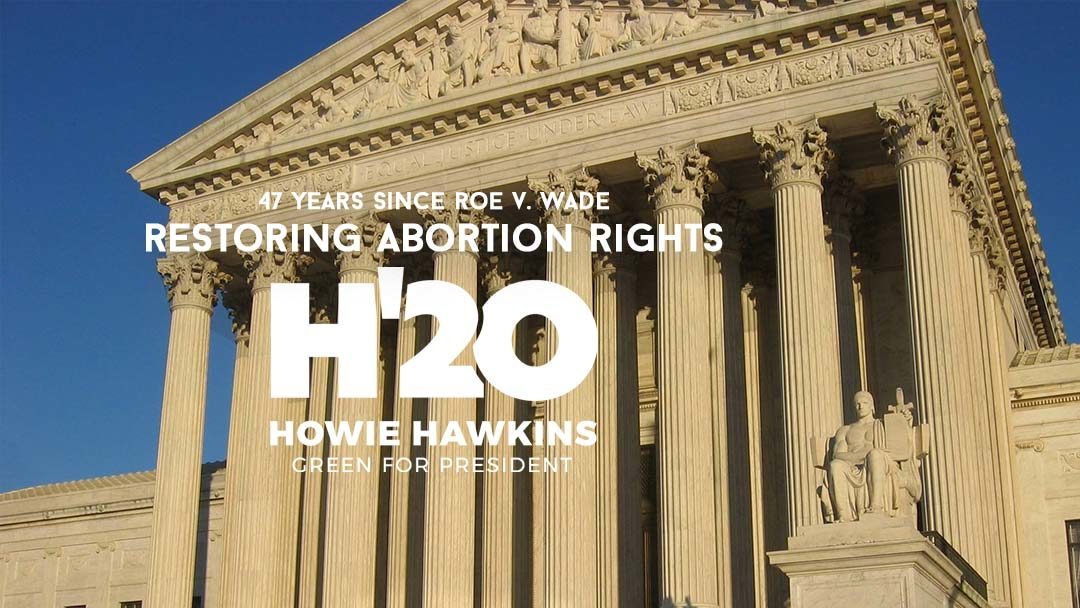 On the 47th Anniversary of Roe v. Wade: Restoring Abortion Rights