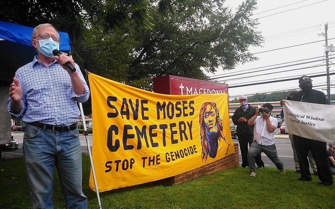 Howie Hawkins participa en protesta contra destrucción de antiguo cementerio de esclavos en Bethesda, Maryland